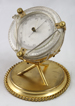 Aneroid english barometer in drum model, gilded and silvered.