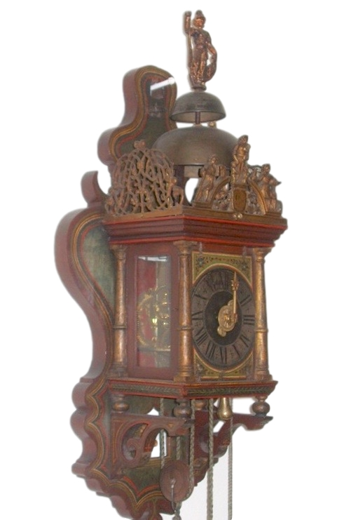 An extremely rare poor man' s Zaanlander clock. Holland c.a. 1690.