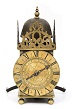 An early French Louis XIV brass lantern timepiece, Rousseau A Lyon, circa 1665