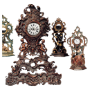 Wooden porte montres in various sizes and of different dates